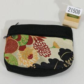 ポーチ ちりめん風 レトロデザイン メール便可 和装着物小物雑貨 新品(株)安田屋 x444449437