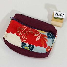 ポーチ ちりめん風 レトロデザイン メール便可 和装着物小物雑貨 新品(株)安田屋 x444449441