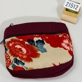 ポーチ ちりめん風 レトロデザイン メール便可 和装着物小物雑貨 新品(株)安田屋 x444449417