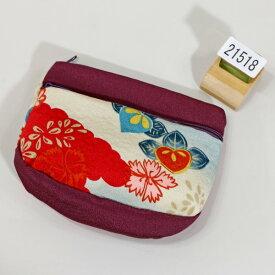 ポーチ ちりめん風 レトロデザイン メール便可 和装着物小物雑貨 新品(株)安田屋 x444449385