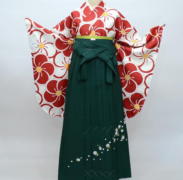 二尺袖着物袴フルセット ANEN 着物生地は日本製 袴と縫製は海外 卒業式に 新品(株)安田屋 g230325087