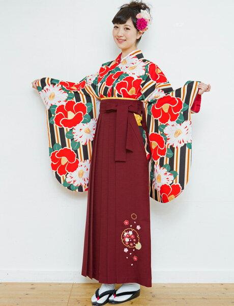 二尺袖着物袴フルセット 夢千代 2018年最新モデル 着物丈は着付けし易いショート丈 卒業式に 新品(株)安田屋 m225522466