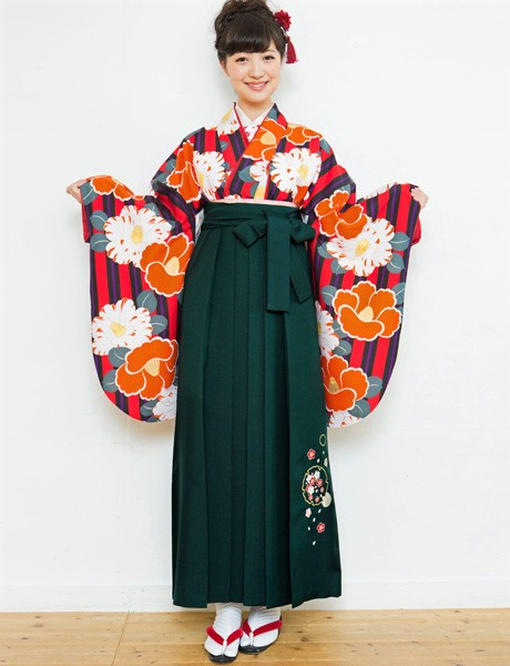 二尺袖着物袴フルセット 夢千代 2018年最新モデル 着物丈は着付けし易いショート丈 卒業式に 新品(株)安田屋 r227923562