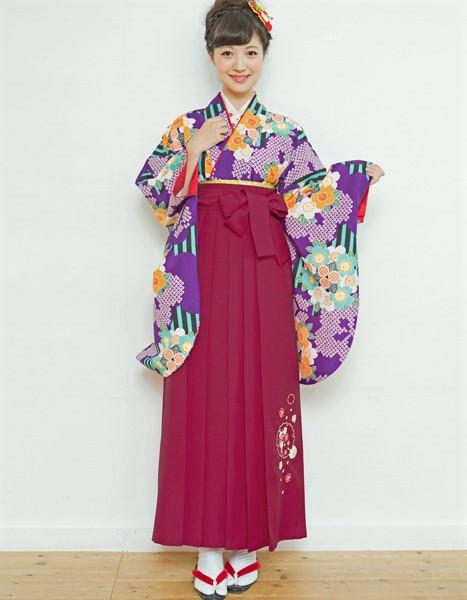 二尺袖着物袴フルセット 夢千代 2018年最新モデル 着物丈は着付けし易いショート丈 卒業式に 新品(株)安田屋 f233037965