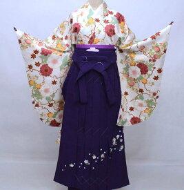 二尺袖 着物 袴フルセット hiromichi nakano ヒロミチナカノ 白地 袴変更可能 着物丈はショート丈 卒業式 新品(株)安田屋 f377624819