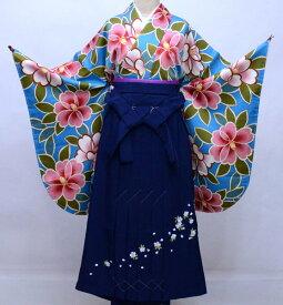 二尺袖 着物 袴フルセット hiromichi nakano ヒロミチナカノ 袴変更可能 着物丈はショート丈 卒業式 新品(株)安田屋 r353232779