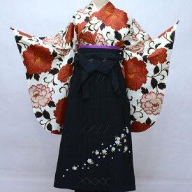 二尺袖 着物 袴フルセット hiromichi nakano ヒロミチナカノ 袴変更可能 白地 着物丈はショート丈 卒業式 新品(株)安田屋 v656461084