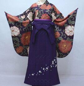 二尺袖 着物 袴フルセット hiromichi nakano ヒロミチナカノ 袴変更可能 紫色 着物丈はショート丈 卒業式 新品(株)安田屋 w341230582