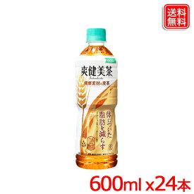 爽健美茶 健康素材の麦茶 PET 600ML x24本 1ケース 送料無料 【メーカー直送】