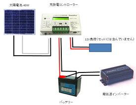 ソーラー発電入門キット-45W:ソーラーパネル充電キット・家庭用蓄電池・ベランダ発電・太陽光発電キット・車中泊