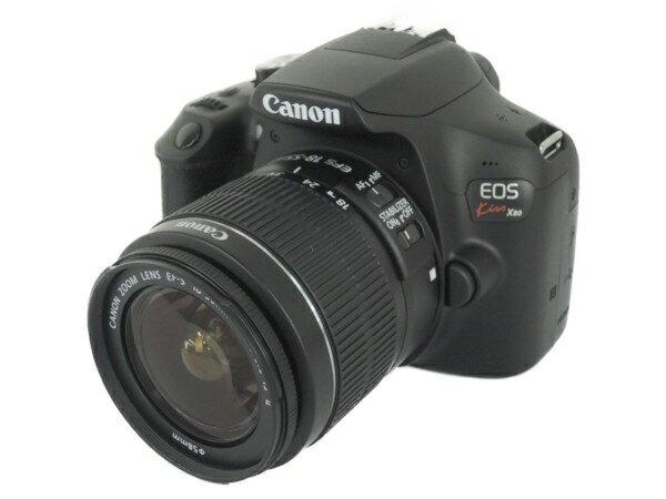 未使用 【中古】 Canon キャノン 一眼レフ EOS Kiss X80 レンズキット EF-S18-55 IS II デジタル カメラ Y3170240