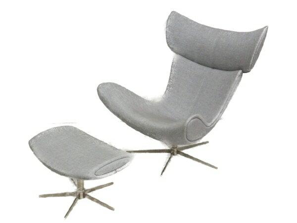 【中古】 Boconcept Squilla チェア 椅子 インテリア オットマン付き 高級家具 楽直【大型】 Y2988753