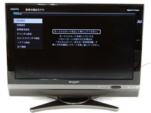 【中古】 SHARP シャープ AQUOS LC-26DX2 液晶 テレビ 26型 BD レコーダー 内蔵 映像 機器 楽 【大型】 Y3095338