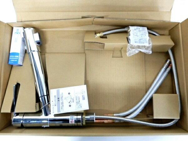 未使用 【中古】 三栄水栓 SANEI K87580E1JV-13 シングル浄水器付 ワンホール混合栓 未使用 F3863632
