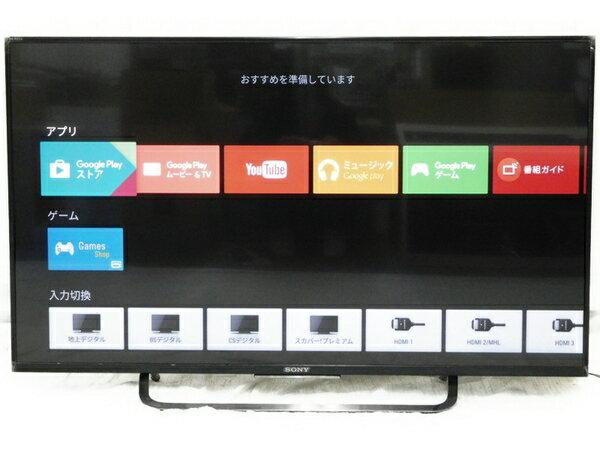 美品 【中古】 SONY ソニー BRAVIA ブラビア KJ-43X8500C 液晶テレビ 43V型 4K ブラック 16年製 【大型】 N2747809