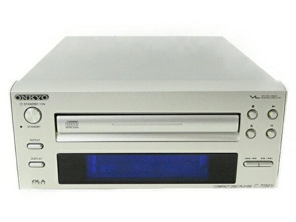 【中古】 中古 ONKYO オンキョー コンポ C-705FX CD プレーヤー オンキョー CDデッキ オーディオ機器 S3544162