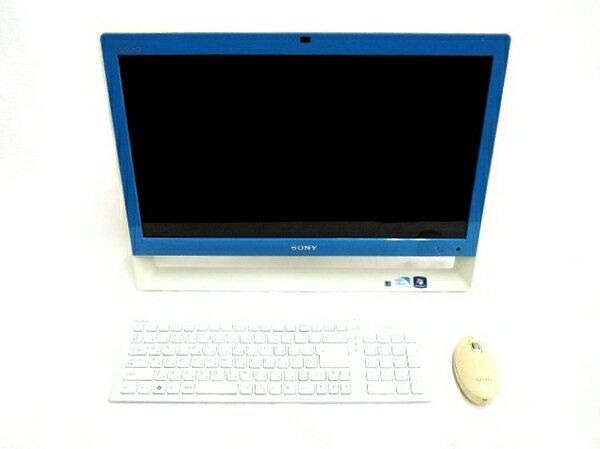 【中古】 SONY VAIO Jシリーズ VPCJ226FJ 一体型パソコン Celeron-B840 4GB 1TB Win7 T3397218