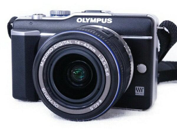 【中古】 OLYMPUS ミラーレスカメラ E-PL1 M.ZUIKO DIGTAL 14-42mm 1:3.5-5.6 レンズキット N3167021
