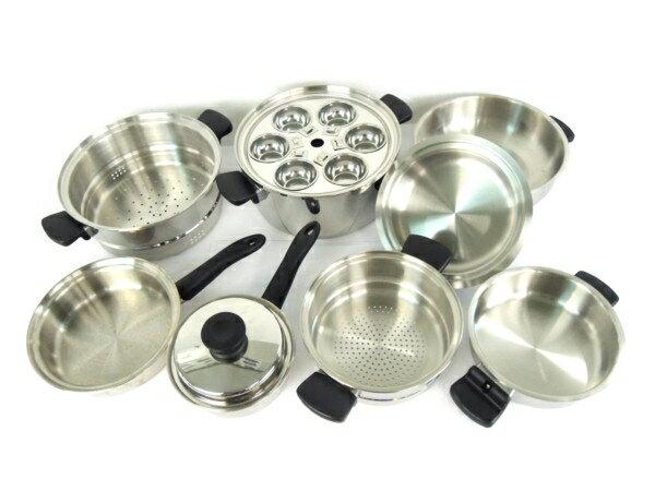 【中古】 Amway アムウェイ クィーン クック ウェア 16 ピース セット 鍋 調理 器具 キッチン Y3327311