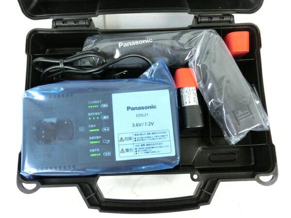 未使用 【中古】 Panasonic パナソニック EZ7521LA2S 充電スティック インパクトドライバー 7.2V 電池2個付 電動工具 M3857372