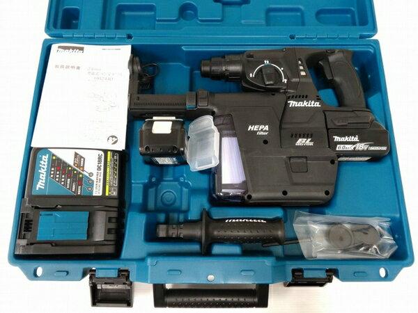 新品 【中古】 未使用 makita マキタ HR244DRGXV 24mm ハンマー ドリル 電動 工具 充電式 18V 6.0Ah O3285745