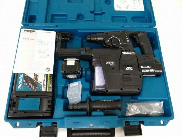新品 【中古】 未使用 makita マキタ HR244DRGXV 24mm ハンマー ドリル 電動 工具 充電式 18V 6.0Ah O3285744