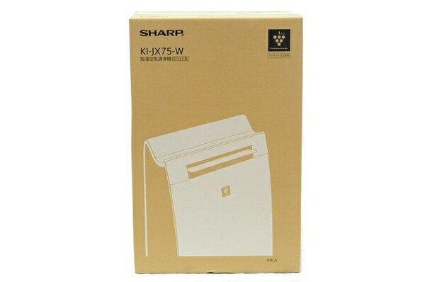未使用 【中古】 SHARP 加湿空気清浄機 KI-JX75-W プラズマクラスター 25000 21畳用 T3766791