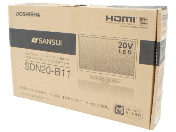 未使用 【中古】 【中古】未使用 SANSUI サンスイ SDN20-B11 ハイビジョン LED 液晶 テレビ 20型 2015年製 家電 H3764449