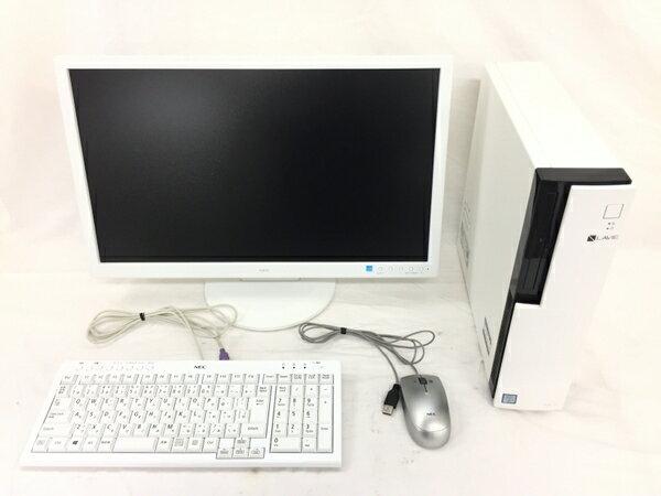 【中古】 NEC LAVIE GD348Z/7 PC-GD348ZZA7 デスクトップ PC i7 6700 3.4GHz 32GB SSD256GB HDD3TB Win10 Home 64bit Quadro K420 23型 モニター付 T2764116