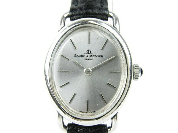 【中古】 BAUME&MERCIER ボーム&メルシェ 手巻き シルバー文字盤 腕時計 レディース T3170464
