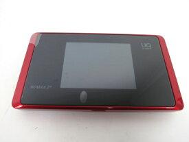 未使用 【中古】 UQ WiMAX 2+ Speed Wi-Fi NEXT WX05 NAD35MRU レッド M3768582
