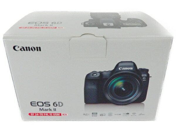 未使用 【中古】 Canon キャノン EOS 6D Mark II EF24-105 IS STM カメラ レンズキット デジタル 一眼 Y3762260