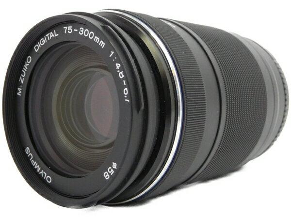 【中古】 OLYMPUS 75-300mm F4.8-6.7 II ED MSC 望遠 レンズ ズームレンズ N3499285
