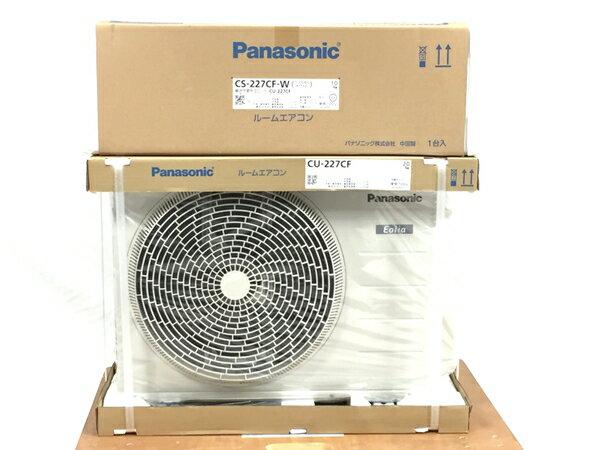 未使用 【中古】 インバーター冷暖房除湿タイプ ルームエアコン 室内機 CS-227CFR-W 【大型】 T3474434