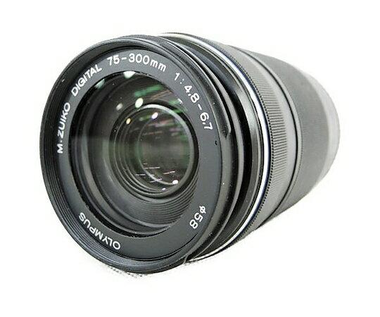 【中古】 OLYMPUS M.ZUIKO DIGITAL ED 75-300mm F4.8-6.7 II カメラ ズームレンズ 望遠 N3758445
