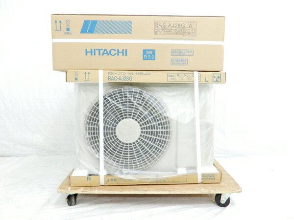 未使用 【中古】 HITACHI RAS-AJ28G RAC-AJ28G 白くまくん ルーム エアコン 8畳 最大 12畳 家電 18年製 楽直 【大型】 Y3169588