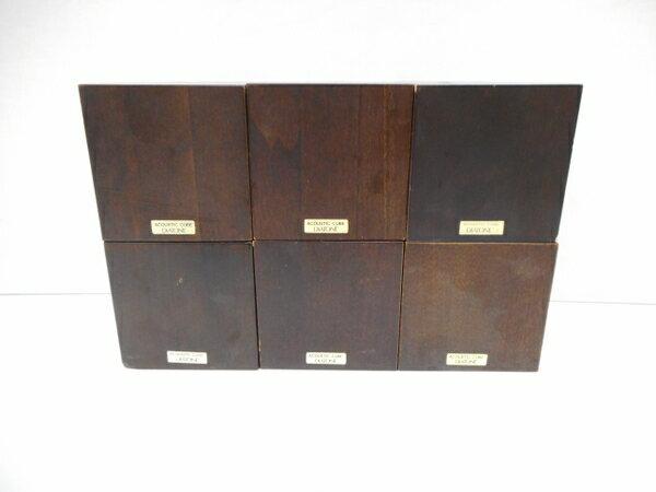 【中古】DIATONE ダイアトーン ACOUSTIC CUBE 6個セット 木製 インシュレーター 音響機器 オーディオ H3705071