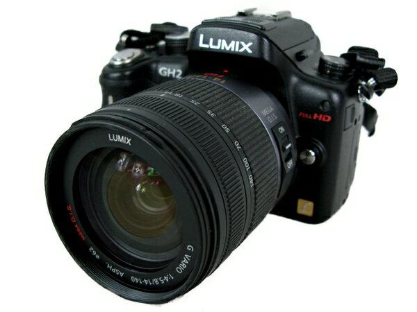 【中古】 Panasonic LUMIX DMC-GH2 14-42mm デジタルカメラ デジカメ ミラーレス 一眼 レンズキット S3701719
