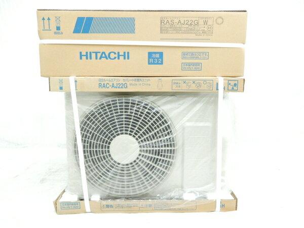 未使用 【中古】 HITACHI 日立 白くまくん RAS-AJ22G RAC-AJ22G 5~9畳 ルーム エアコン 家電 17年製 楽直 【大型】 Y3173094