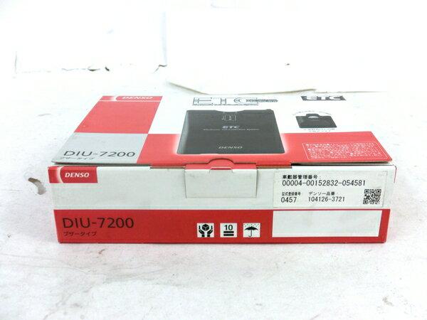 未使用 【中古】 DENSO DIU-7200 ETC 車載器 4輪用 カー用品 M3866656