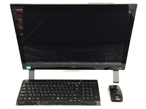 【中古】 FUJITSU FMV ESPRIMO FH56/KD FMVF56KDB 液晶一体型 デスクトップ パソコン PC i7 3630QM 2.4GHz 8GB HDD2TB Win10 Home 64bit シャイニーブラック T3249963
