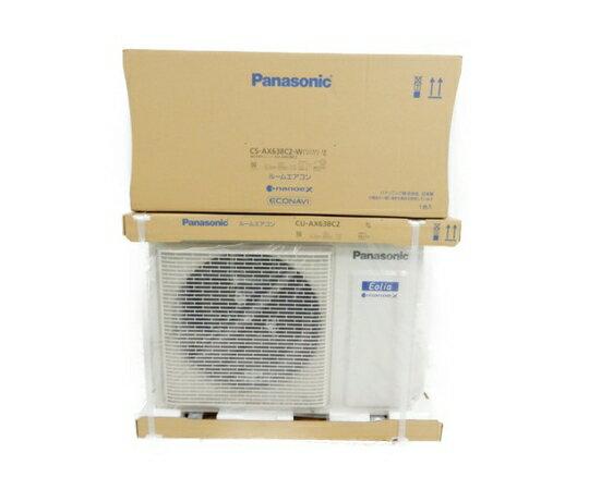 未使用 【中古】 Panasonic パナソニック Eolia CS-AX638C2-W CU-AX638C2-W エアコン 家電 楽直 【大型】 Y3608661