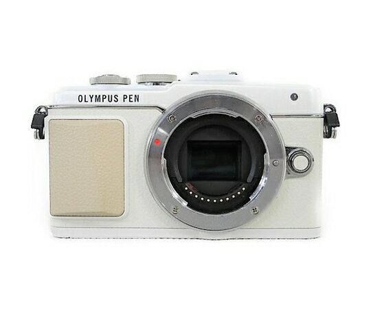 【中古】 OLYMPUS オリンパス PEN Lite E-PL7 EZダブルズームキット ミラーレス一眼 カメラ ホワイト N3757902