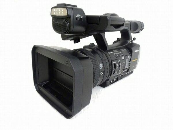 【中古】 中古 SONY ソニー カムコーダー HXR-NX3 ビデオカメラ 業務用 3CMOSセンサー 280時間 ECM-XM1 ガンマイク セット O3167372