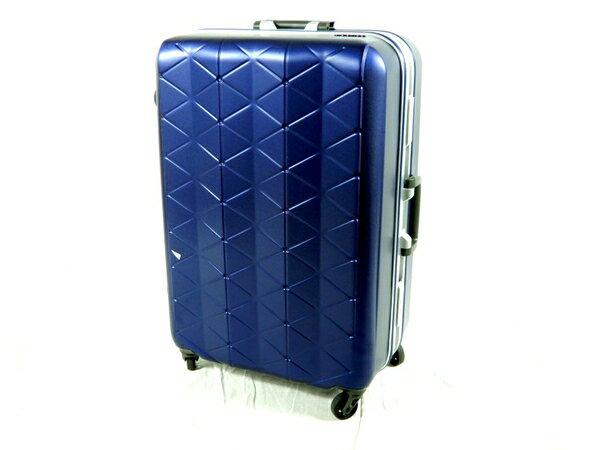 美品 【中古】 sunco MGC1-63 SUPERLIGHTS 極軽 スーツケース 63cm ネイビー K2853972