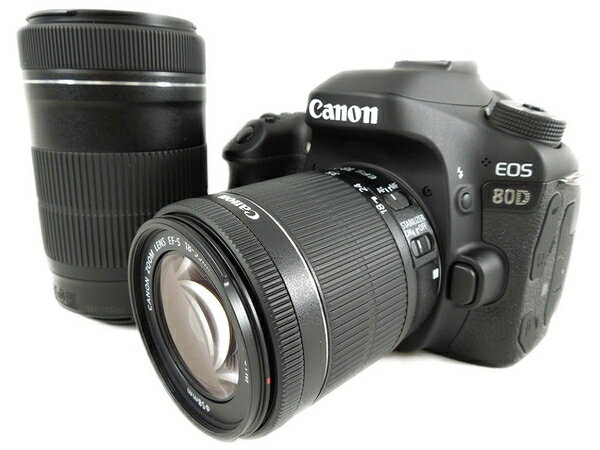 美品 【中古】 Canon キヤノン EOS 80D ダブルズームキット EOS80D-WZOOMKIT 一眼レフ カメラ レンズ 趣味 撮影 S2880568