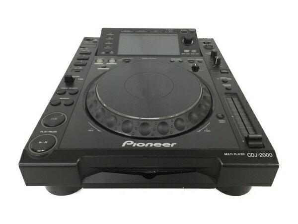 【中古】 PIONEER パイオニア CDJ-2000 マルチプレーヤー ターンテーブル CDJプレーヤー ブラック N3839974