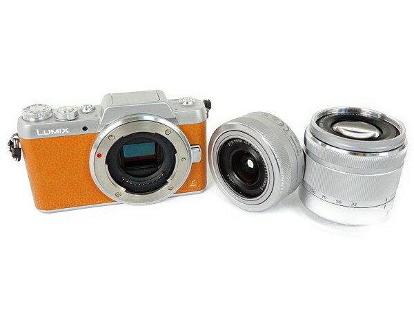 【中古】 Panasonic パナソニック ミラーレス一眼 LUMIX G DMC-GF7 ダブルズームレンズキット カメラ Y3754907