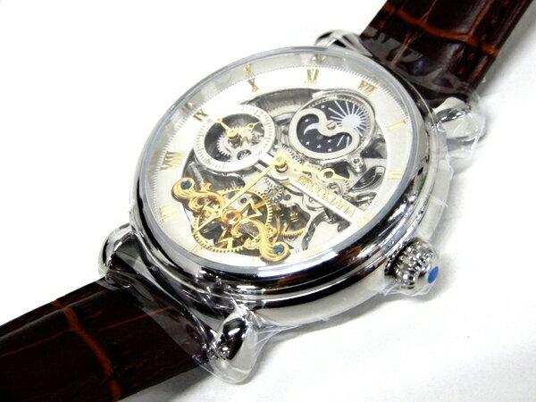 未使用 【中古】 未使用 BROOKIANA 自動巻き BA2601-GPWH メンズ 腕時計 F3395946
