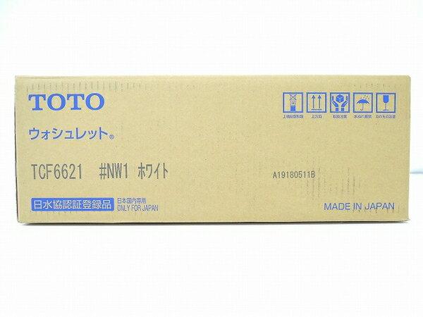 未使用 【中古】 TOTO ウォシュレット TCF6621 #NW1 ホワイト 温水 洗浄 便座 トイレ O3274610
